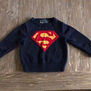 Baby Gap Junk Food Superman Knit Sweater 18-24m